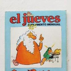 Colecionismo da Revista El Jueves: EL JUEVES SUPLEMENTE MENSUAL, LA BIBLIA CONTADA A LOS PASOTAS, 1980. Lote 287184333