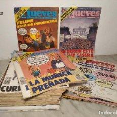 Coleccionismo de Revista El Jueves: EL JUEVES - LOTE 55 ANTIGUAS REVISTAS. Lote 287887573