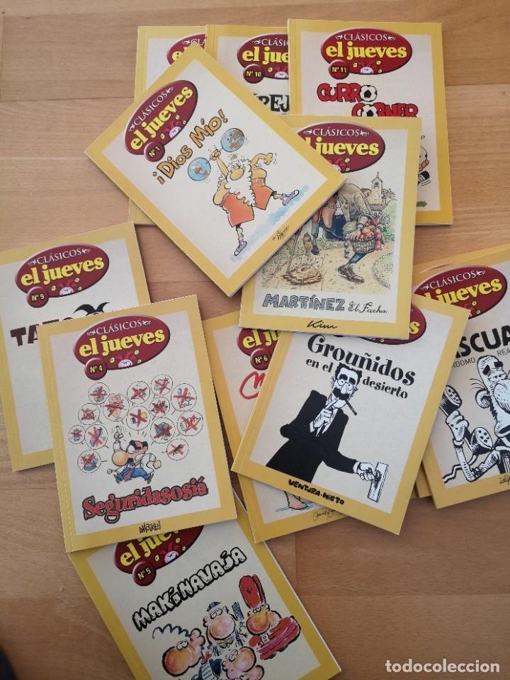 Coleccionismo de Revista El Jueves: LOTE REVISTAS EL JUEVES NUEVAS DOCE VOLÚMENES - Foto 2 - 288602793