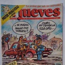 Coleccionismo de Revista El Jueves: EL JUEVES 669 - 21 AL 27 MARZO 1990 -TRÁFICO MULTAS ASTRONOMICAS- POSTER PRIMAVERAL. Lote 297082908