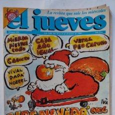 Coleccionismo de Revista El Jueves: EL JUEVES 656 - 20 AL 26 DICIEMBRE 1989 -YAS NAVIDÁ NEL JUEBES - NAVIDAD. Lote 297083298