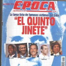 Coleccionismo de Revista Época: VICTIMAS DEL SIDA. SERRANO SÚÑER. GALA. REVISTA ÉPOCA Nº 401. 2 DE NOVIEMBRE DE 1992. Lote 9076331
