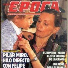 Coleccionismo de Revista Época: PILAR MIRÓ. ESPARTACO. JOSELITO. SAMARANCH. REVISTA ÉPOCA Nº 85. 27 DE OCTUBRE DE 1986. Lote 8430378