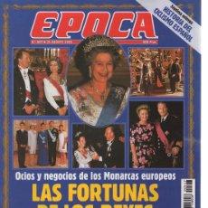 Collectionnisme de Magazine Época: EPOCA : AÑO 1995 N 547, LAS FORTUNAS DE LOS REYES. Lote 18962759