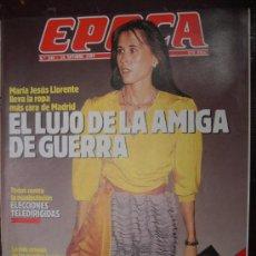 Collectionnisme de Magazine Época: EPOCA - N 240 - 1989 - MARIA JESUS LLORENTE LA ROPA MAS CARA - ELECCIONES - CALVO SOTELO . Lote 26129860