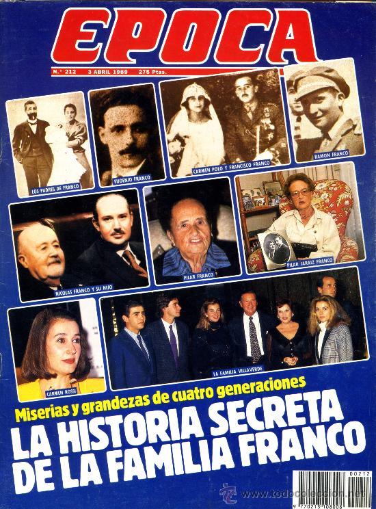 REVISTA EPOCA Nº 212 3 ABRIL 1989 (Coleccionismo - Revistas y Periódicos Modernos (a partir de 1.940) - Revista Época)