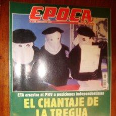 Collectionnisme de Magazine Época: EPOCA Nº 772 1999 EL CHANTAJE DE LA TRAGUA. Lote 28434254