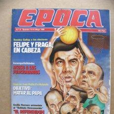 Colecionismo da Revista Época: REVISTA EPOCA Nº 9 JULIO ANGUITA ASSUMPTA SERNA ANIVERSARIO RENDICION ALEMANA EL PAPA. Lote 206902770