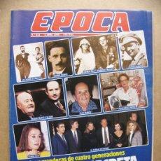 Collectionnisme de Magazine Época: REVISTA EPOCA Nº 212 HISTORIA FAMILIA FRANCO GUNILLA EL DESAMOR RUIZ MATEOS NUÑEZ PUJOL. Lote 32643989