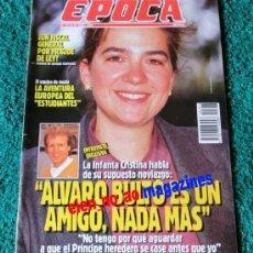 Coleccionismo de Revista Época: EPOCA Nº 325/1991 ~ INFANTA CRISTINA Y ALVARO BULTO ~ ESTUDIANTES DE BALONCESTO. Lote 33768099