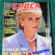 Coleccionismo de Revista Época: EPOCA Nº 325/1991 ~ LADY DI ~ DIANA PRINCESA DE GALES ~ RESUMEN DEL AÑO 1997. Lote 33768504
