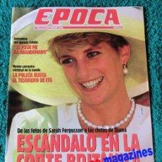 Coleccionismo de Revista Época: EPOCA Nº 394/1992 ~ LADY DI ~ DIANA PRINCESA DE GALES ~ MATA HARI. Lote 33769365