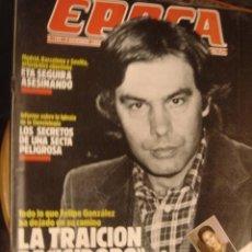 Collectionnisme de Magazine Época: EPOCA Nº195. DICIEMBRE 1988. MENDOZA DEJÓ PLANTADA A NATI ABASCAL/ CIENCIOLOGIA, LOS SECRETOS DE UNA. Lote 34615233