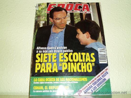REVISTA EPOCA Nº 342 ALFONSO GUERRA (Coleccionismo - Revistas y Periódicos Modernos (a partir de 1.940) - Revista Época)