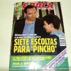 Coleccionismo de Revista Época: REVISTA EPOCA Nº 342 ALFONSO GUERRA. Lote 39867110