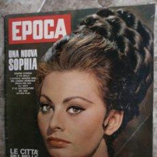 Coleccionismo de Revista Época: EPOCA Nº644. AÑO 1963. SOPHIA LOREN, JOHN KENNEDY, MINA MAZZINI, CORRADO PANI. Lote 35974560