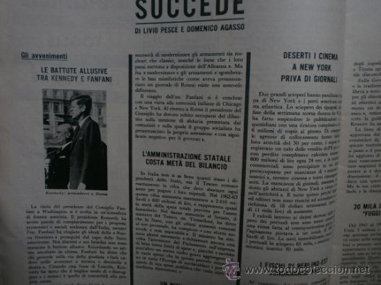 Coleccionismo de Revista Época: EPOCA Nº644. AÑO 1963. SOPHIA LOREN, JOHN KENNEDY, MINA MAZZINI, CORRADO PANI - Foto 2 - 35974560