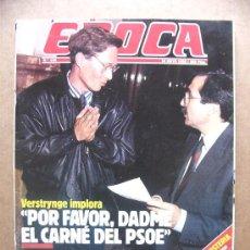 Collectionnisme de Magazine Época: REVISTA EPOCA Nº 166 FELIPE GONZALEZ EL DESAPARECIDO PACO OJEDA FERNANDO SEBASTIAN ALFONSIN. Lote 113677226