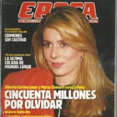 Collectionnisme de Magazine Época: EPOCA Nº 207 CON MARTA CHAVARRI Y ALBERTO CORTINA DE 1989. Lote 43915005