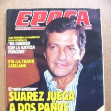 Collectionnisme de Magazine Época: REVISTA EPOCA Nº 121 ADOLFO SUAREZ GUNILLA DAVID BOWIE FRED ASTAIRE JACQUELINE KENNEDY TOUR 87. Lote 44714093