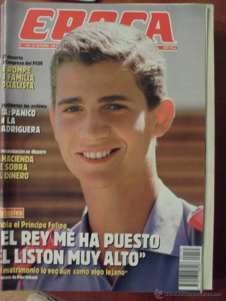 REVISTA EPOCA, NUMERO 135, OCTUBRE 1987 (Coleccionismo - Revistas y Periódicos Modernos (a partir de 1.940) - Revista Época)