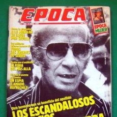 Collectionnisme de Magazine Época: REVISTA ÉPOCA . NUMERO 266 . 9 ABRIL 1990 . LOS ESCANDALOSOS NEGOCIOS DE ANTONIO GUERRA. Lote 48709657
