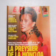 Collectionnisme de Magazine Época: REVISTA EPOCA Nº 292. 8 OCTUBRE 1990. MARIA JESUS LLORENTE. LA PREYSLER DE LA MONCLOA. TDKR1. Lote 48739040