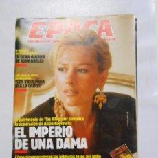 Coleccionismo de Revista Época: REVISTA EPOCA Nº 209. 13 MARZO 1989. ALICIA KOPLOWITZ. EL IMPERIO DE UNA DAMA. TDKR2. Lote 118967704