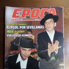 Coleccionismo de Revista Época: EPOCA Nº59 JULIO IGLESIAS, ISABEL PANTOJA, ROLLING STONES, ANA OBREGÓN, LOS KENNEDY, PILAR MIRÓ.. Lote 51410444