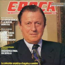 Coleccionismo de Revista Época: REVISTA EPOCA Nº 146. 1987 LA BAZA SECRETA DE THYSSEM, CUANDO EL AUTOMOVIL SE HACE CULTURA.... Lote 53256074