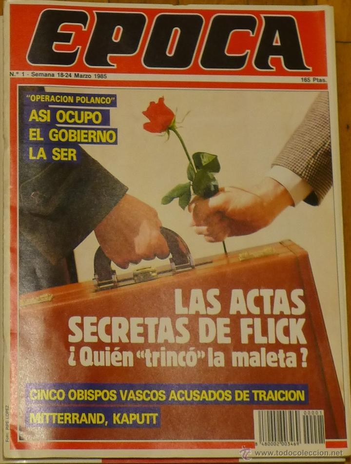 ÉPOCA, REVISTA Nº 1 (Coleccionismo - Revistas y Periódicos Modernos (a partir de 1.940) - Revista Época)