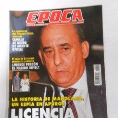 Collectionnisme de Magazine Época: REVISTA EPOCA Nº 605. 30 DE SEPTIEMBRE DE 1996. MANGLANO, ESPIA EN APUROS. TDKR6. Lote 53537231