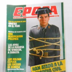 Collectionnisme de Magazine Época: REVISTA EPOCA Nº 107. 30 DE MARZO 1987. HAN ATADO A LA GUARDIA CIVIL. TDKR6. Lote 53543884