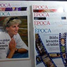 Coleccionismo de Revista Época: REVISTA EPOCA LOTE DE 6. Lote 53690900