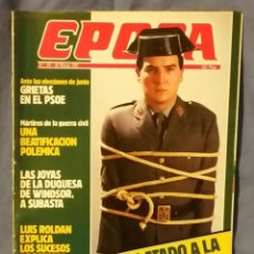 Collectionnisme de Magazine Época: REVISTA ÉPOCA - MARZO 1987 - HAN ATADO A LA GUARDIA CIVIL - RARO EJEMPLAR - EPOCA. Lote 57026401