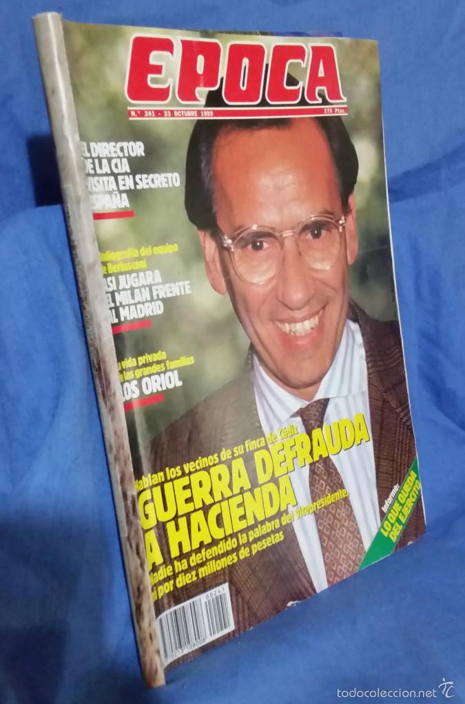 Coleccionismo de Revista Época: Revista Época - Octubre 1989 - Lo que Queda del Ejército - Director de la CIA - Guerra y Hacienda - Foto 2 - 56577320
