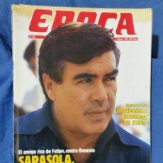 Collectionnisme de Magazine Época: REVISTA ÉPOCA - FEBRERO 1987 - SARASOLA, VENGADOR DE LOS COCA - ENCUESTA GALLUP - RARO EJEMPLAR. Lote 56577523