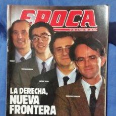 Collectionnisme de Magazine Época: REVISTA ÉPOCA - FEBRERO 1987 - LA DERECHA, LA NUEVA FRONTERA - POLICÍAS 'SÍNDROME DEL NORTE - RARO. Lote 56577592
