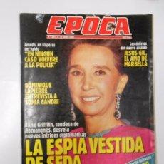 Coleccionismo de Revista Época: REVISTA EPOCA. Nº 328. 17 JUNIO 1991. LA ESPIA VESTIDA DE SEDA. CONDESA DE ROMANONES. TDKR15. Lote 125099508
