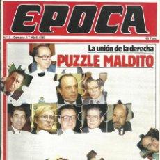 Coleccionismo de Revista Época: REVISTA EPOCA. J. CAMPMANY.Nº 3. 1 ABR 1985. ESPAÑA SIN PULSO. PUZZLE MALDITO. MERCADO COMUN PORTAZO. Lote 58496400