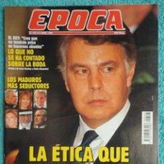 Coleccionismo de Revista Época: REVISTA EPOCA Nº 527 AÑO 1995 - TERROR DE ESTADO -EL PRESO ROLDAN -ENRIQUE MUGICA -GAS SARIN. Lote 69417257