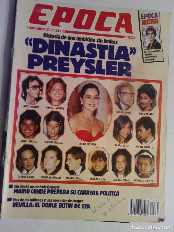 REVISTA EPOCA Nº 192 - 14 NOVIEMBRE 1988 (Coleccionismo - Revistas y Periódicos Modernos (a partir de 1.940) - Revista Época)