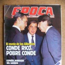 Colecionismo da Revista Época: EPOCA 204 JULIO ANGUITA EL AAIUN SAHARA SALVADOR DALI LA FIDELIDAD DE LOS FAMOSOS ALBERTOS CARNAVAL. Lote 267864869