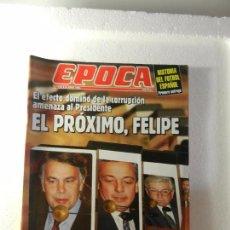 Coleccionismo de Revista Época: REVISTA EPOCA 25 DE ABRIL DE 1994 Nº 478. LA CORRUPCIÓN AHOGA AL GOBIERNO. RUANDA Y BURUNDI. . Lote 85464572