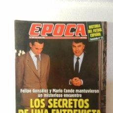 Coleccionismo de Revista Época: REVISTA EPOCA 25 DE JULIO DE 1994 Nº 491. ENTREVISTA A JUAN VELARDE. PÉREZ CAMINERO ENTREVISTA. . Lote 85507796