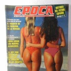 Coleccionismo de Revista Época: REVISTA EPOCA 11 DE JULIO DE 1994 Nº 489. INDURAIN NO QUIERE DEJAR SU TRONO. . Lote 85508164