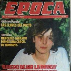 Coleccionismo de Revista Época: REVISTA ÉPOCA, NÚMERO 20, AGOSTO 1985, ALASKA EN CONTRAPORTADA. Lote 90480159