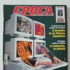 Coleccionismo de Revista Época: EPOCA 795 2000 JON SECADA, DINASTIA ASSAD, VICTORIA VERA, CAZAVIRUS, COMUNIONES. Lote 105363119