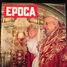 Coleccionismo de Revista Época: REVISTA EPOCA Nº 423 EN ITALIANO NOVIEMBRE 1958. Lote 120648367
