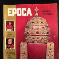 Coleccionismo de Revista Época: REVISTA EPOCA Nº 421 EN ITALIANO OCTUBRE 1958. Lote 120649215